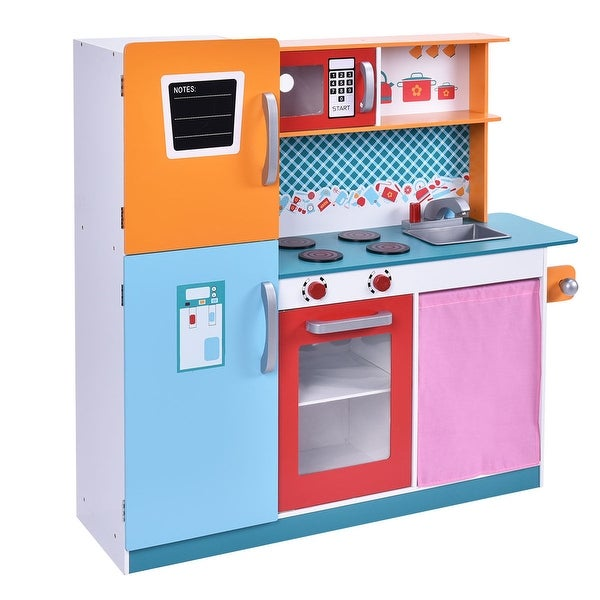 Costwaywood Kitchen Toy Kids Cooking Pretend Play Set Toddler Wooden Playset Gift New Pink