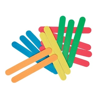 Creativity Street Jumbo Craft Sticks, 6 X 3/4 X 1/16 in, Pack of 100