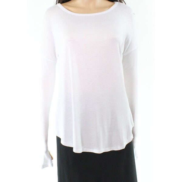 a9fe517c7600cd Shop Sweet Romeo White Boat Neck Women's Size Medium M Shirt Knit Top -  Free Shipping On Orders Over $45 - Overstock - 21586956