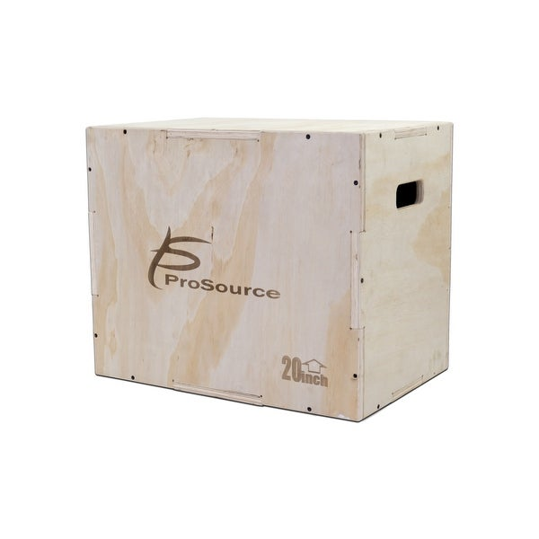 ProsourceFit Wood Plyometric Jump Box for CrossFit and Plyo Workouts, 2 sizes - Sandy Tan. Opens flyout.
