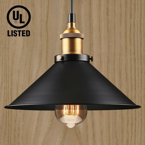 1 Light Industrial Hanging Pendant Light,Retro Vintage Style,E26 Base,UL-listed