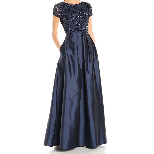 Shop Adrianna Papell New Blue Navy Women S Size 4 Sequin