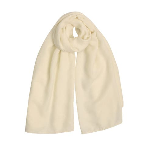 "Long Warm Shawl Large Soft Solid Color Scarf for Women Men Beige-2 - Beige - 75""x 39"""