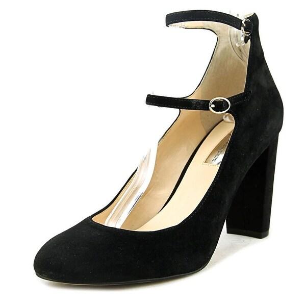 INC International Concepts Mulli Women Round Toe Suede Black Heels