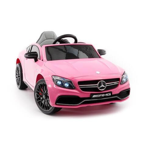 Mercedes Benz C63S 12V Kids Ride-On Car with R/C Parental Remote