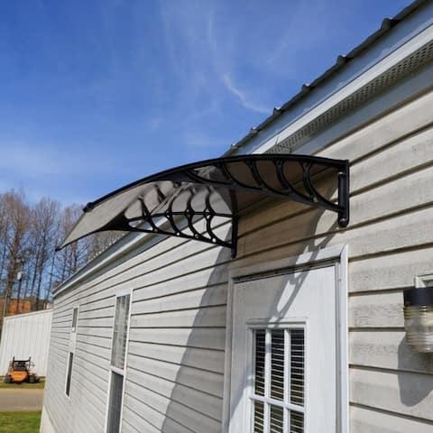 """39""""Household Application Door & Window Rain Cover Eaves Gray Holder"""