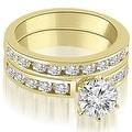 2.55 cttw. 14K Yellow Gold Classic Channel Set Round Cut Diamond Bridal Set - Thumbnail 0