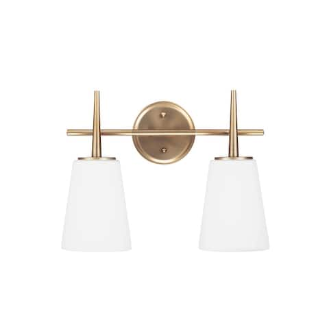 Sea Gull Driscoll 2-light Cased Opal Etched Glass Vanity Fixture
