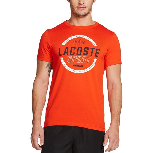 59352e387 Shop Lacoste Mens Big & Tall Graphic Tee Short Sleeve Solid - Free Shipping  On Orders Over $45 - Overstock - 17810079
