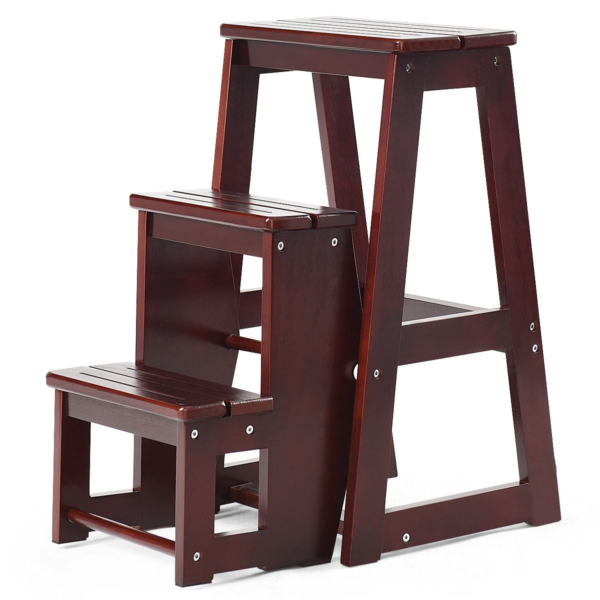 Admirable 5 Steps Wooden Ladder Chair Step Stool Multifunction Squirreltailoven Fun Painted Chair Ideas Images Squirreltailovenorg