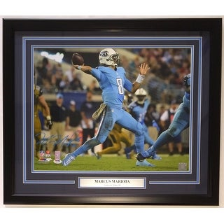 Marcus Mariota Signed Framed Tennessee Titans 16x20 Photo PSA