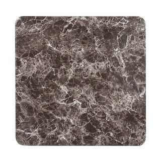 """Offex 24"""" Square Gray Marble Laminate Restaurant Dining Table Top - Grey/White"""