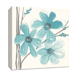 """PTM Images 9-153432  PTM Canvas Collection 12"""" x 12"""" - """"Spring Fling IV"""" Giclee Flowers Art Print on Canvas"""