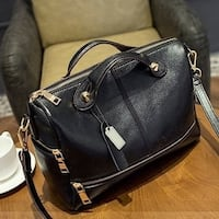 Fashion Genuine Leather Women Handbag Patchwork Natural Sheepskin Shoulder Bag
