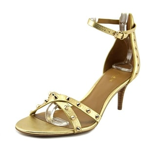 Coach May Metallic Tumbled   Open-Toe Leather  Heels