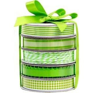 Spring Green - American Crafts Premium Ribbon & Twine 5-Packs