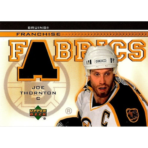 wholesale dealer 4addd e2633 Signed Thornton Joe Boston Bruins Joe Thornton 200304 Upper Deck Franchise  Fabrics Unsigned Hockey