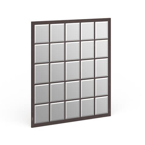 Superior Windowpane Frame Mirror - N/A