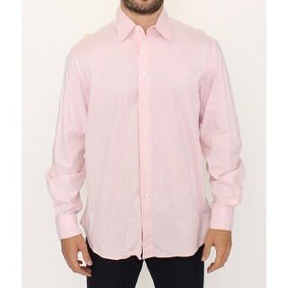 Ermanno Scervino Ermanno Scervino Pink Cotton Casual Long Sleeve Long Shirt - it50-l