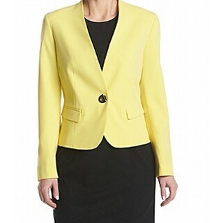 Nine West NEW Lemon Yellow Womens Size 10 Turn Key Two Pocket Jacket