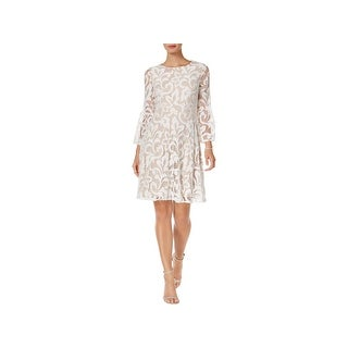 Jessica Howard Womens Special Occasion Dress Lace Bell Sleeve