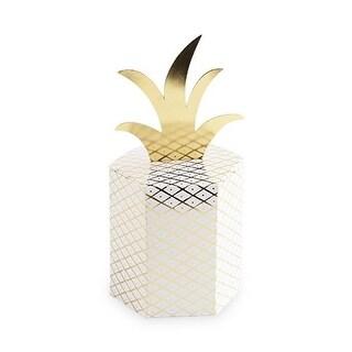 3.5 x 8 in. Pineapple Crush Treat Box, Gold - 4 Paper per Boxes