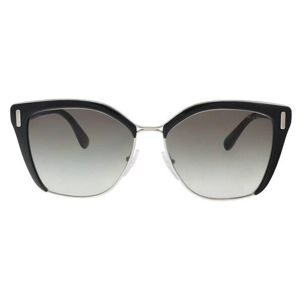 70b264bbbcb6 Shop Prada PR 56TS 1AB0A7 Black   Silver Cat eye Sunglasses - 57-16 ...