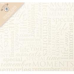 """Memories -Cream - Colorbok Post Bound Album 12""""X12"""""""