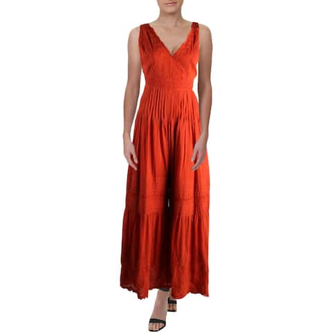 Free People Womens Paloma Jumpsuit Cotton Pleated