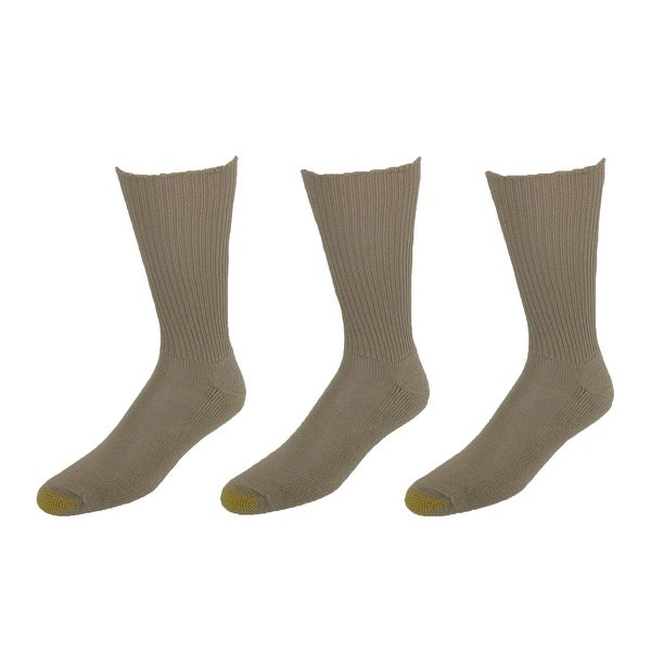Gold Toe Men's Moisture Control Cushion Foot Fluffies Socks (Pack of 3), Shoe Size 6 - 12 1/2