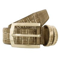 Renato Balestra Y105 TAUPE LUCE Leather Mens Belt