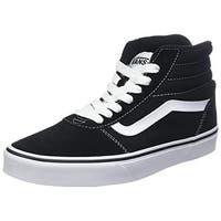 Vans Ward Hi Shoes 9.5 B(M) Us Women / 8 D(M) Us Suede Canvas Black White
