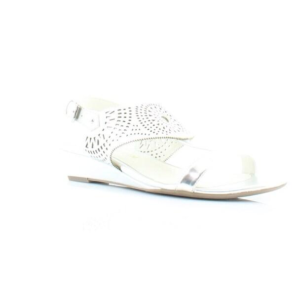 Anne Klein Maddie Women's Sandals & Flip Flops Silver - 11