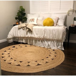 Safavieh Handmade Natural Fiber April Natural Brown Jute Rug - 6' x 6' Round