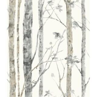 "RoomMates RMK9047WP 20-1/2"" x 198"" - Birch Trees - Self Adhesive Vinyl Film - 28.18 Sq. Ft."