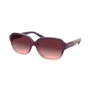 Link to Coach HC8298U 56228H 57 Transparent Rose Woman Rectangle Sunglasses Similar Items in Women's Sunglasses