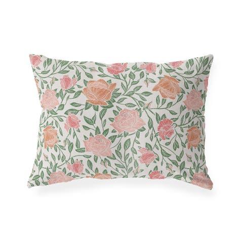 ZINNIA LIGHT Indoor Outdoor Lumbar Pillow by Kavka Designs - 20X14