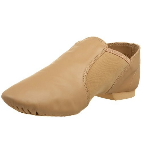 Capezio Womens E Series Slip On Jazz Shoe, Car, 12.5