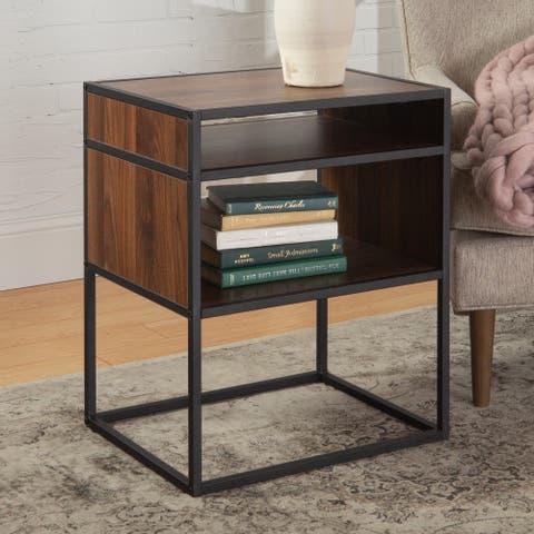 Carbon Loft Geller Side Table with Open Shelf