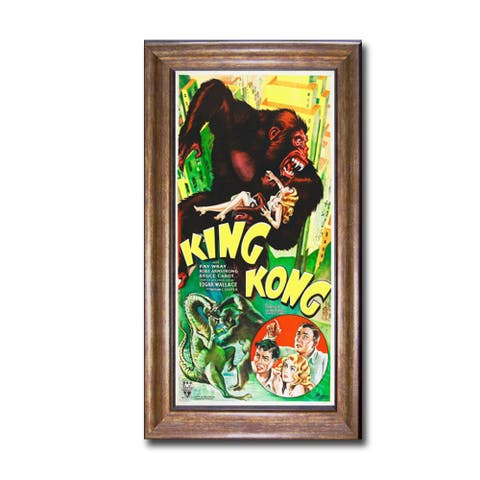 King Kong by Hollywood Photo Archive Bronze-Gold Framed Canvas Art (28 in x 16 in Framed Size)