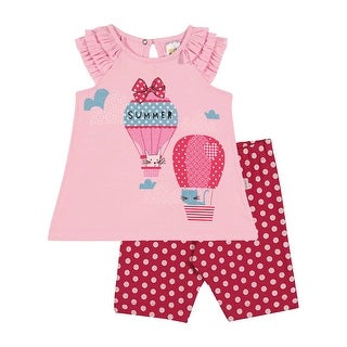 Baby Girl Outfit Infant Sleeveless Shirt and Capris Set Pulla Bulla 3-12 Months