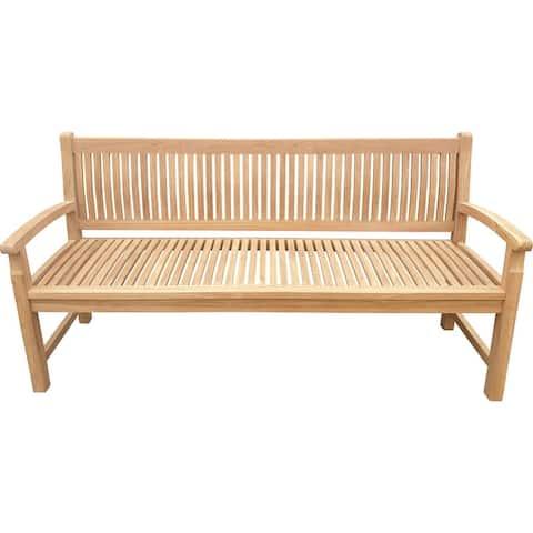 Seven Seas Teak El Mar Teak Wood Outdoor Patio Bench, 6 Foot