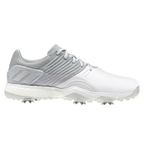 NEW Adidas Adipower 40RGED Onix/Matte Silver/White Golf Shoes DA9319 (MED)