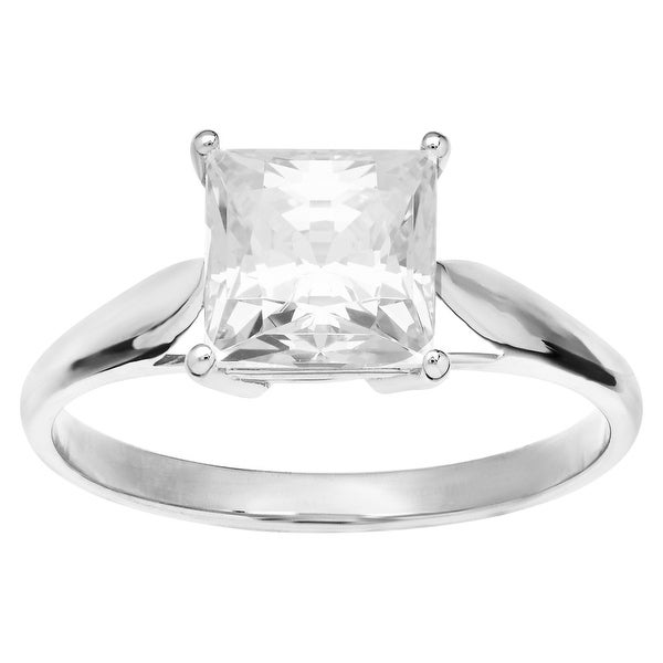 3 ct Cubic Zirconia Engagement Ring in 10K White Gold