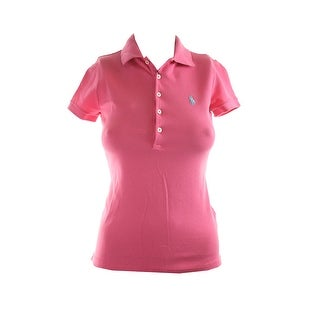 Polo Ralph Lauren Pink Short-Sleeve Stretch Mesh Polo Shirt XS