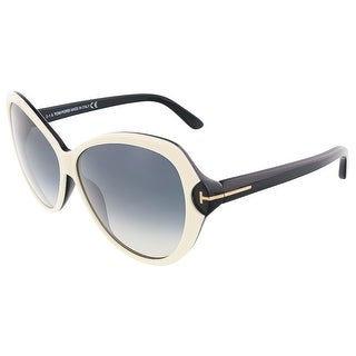 Tom Ford FT0326/S 25B VALENTINA Ivory/Black Butterfly sunglasses