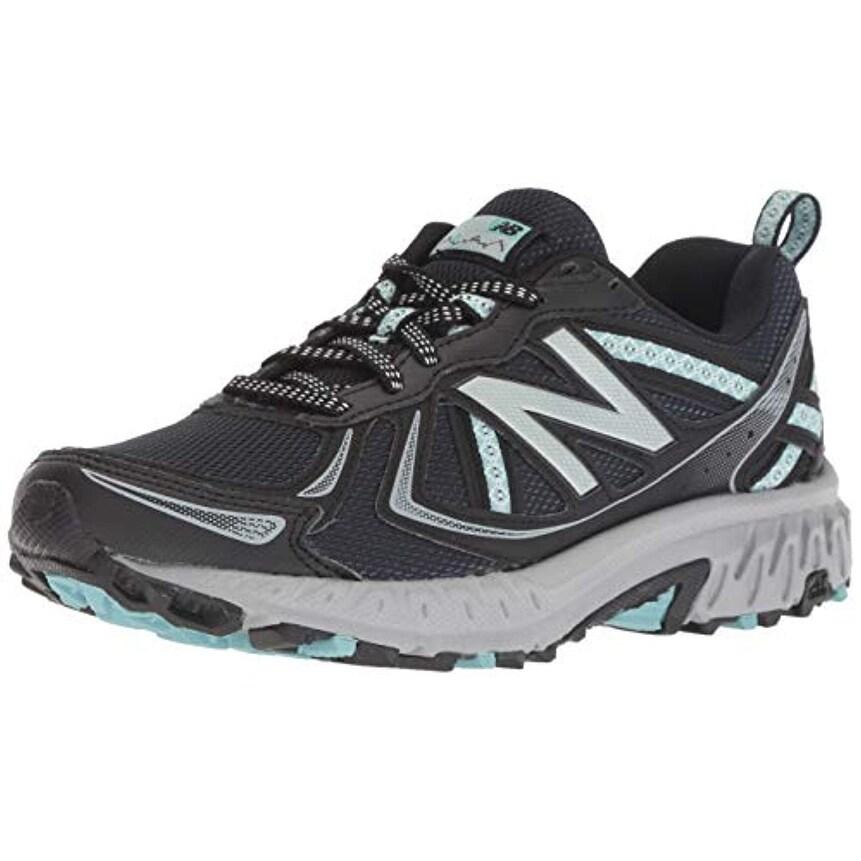 New Balance Women's 410v5 Cushioning Trail Running Shoe, BlackThunderOcean air, 6 B US