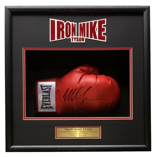 96dcade8f47 Shop Mike Tyson Signed Red Right Hand Everlast Boxing Glove Shadowbox JSA  ITP - Free Shipping Today - Overstock - 20601087