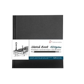 Hahnemuhle Spiral-Bound A5 Sketch Book (Black Cover, 60 Sheets)