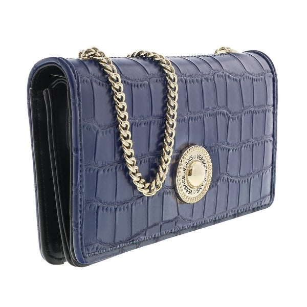 Versace EE3VQBPG3 E202 Blue Wallet On Chain - 7.5-4-3